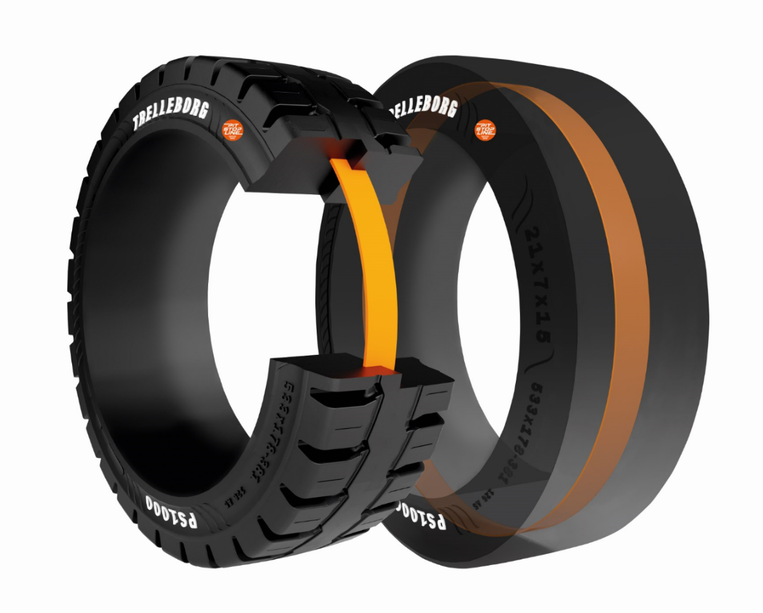 New Trelleborg Forklift Tire Features Pit Stop Innovation