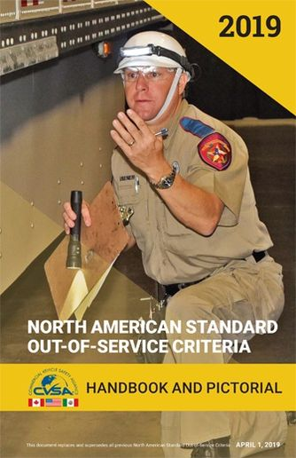 The North American Standard Out-of-Service Criteria handbook shows exactly what violations will result in being shut down. Every fleet should have one, says Seidl. - Image via CVSA