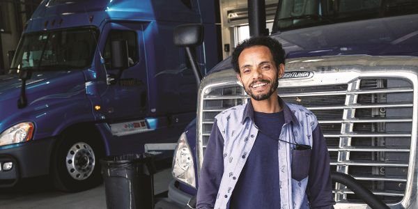Trucking is looking beyond traditional demographics and filling empty seats with minorities and...