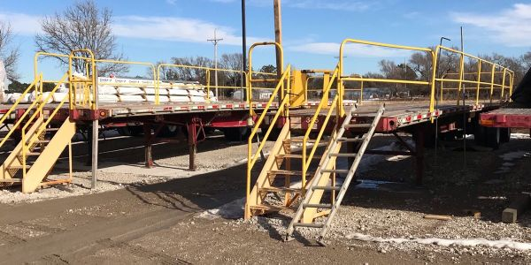 Flatdeck carrier Chief Carriers has special trailers assigned to load securement training.