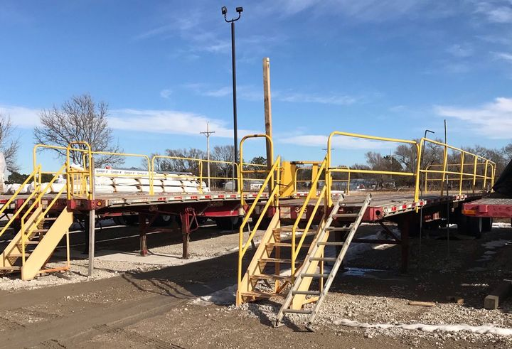 Flatdeck carrier Chief Carriers has special trailers assigned to load securement training.  - Photo: James Menzies