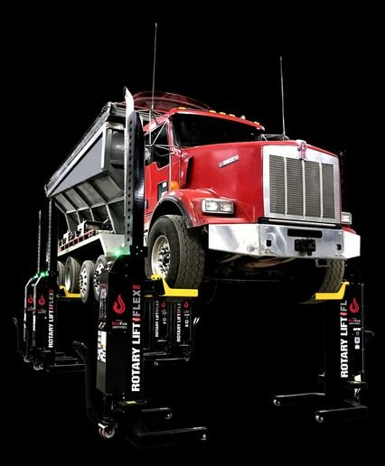 All heavy-duty vehicle lifts must carry the Gold Automotive Lift Institute certification label to show it has been third-party tested and certified to meet all the requirements of North America's applicable electrical and mechanical safety standards. - Photo: Rotary Lift