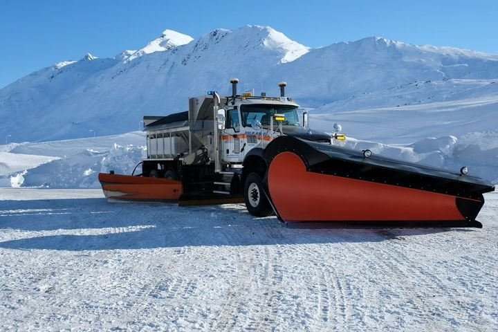 A Mack snow plow in Alaska