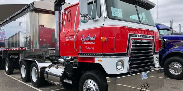 Cabover trucks at the Mid-America Trucking Show