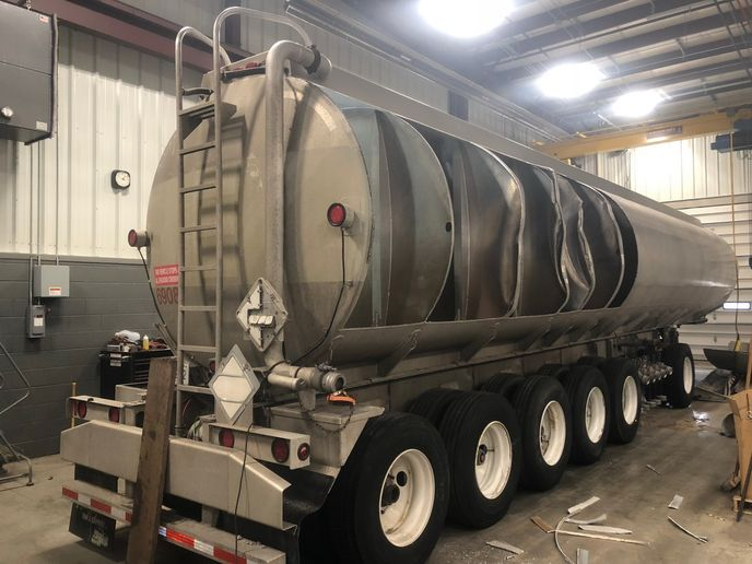 In addition to refurbishing tank trailers, St John Truck & Trailer Service can also do complex repairs.  - Photo: Jim Park