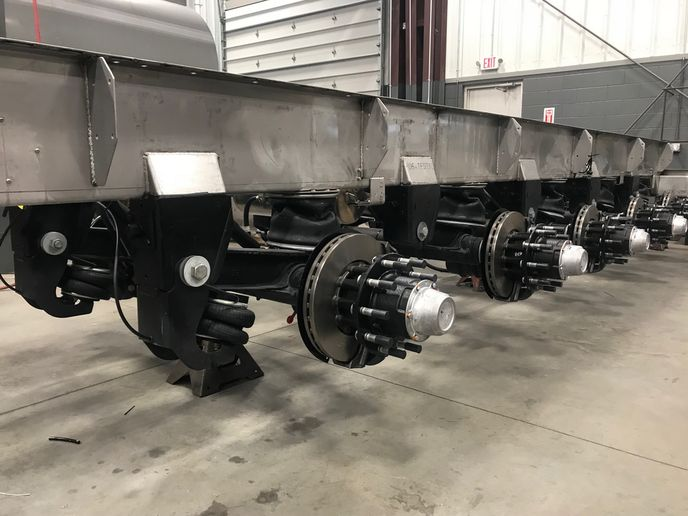 Suspension and brake equipment are updated to the latest technology, along with trailer wiring, fenders, cabinets, etc.  - Photo: Jim Park