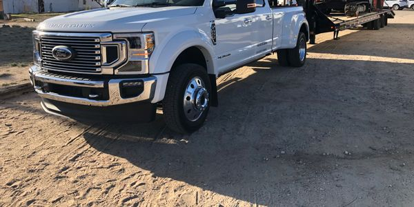 Laden with 30,000 poundsof Kubota compact construction equipment, this Ford F-450 Super Duty...