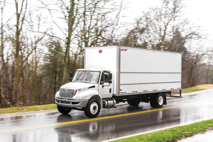 As the demand for final-mile delivery services heats up, customers need smaller delivery vehicles that can navigate residential and small business areas, says Great Dane. Shown here, its Sahara Series dry freight truck body. - Photo: Great Dane