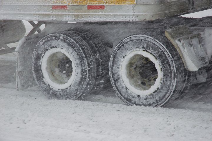Drivers should always check their snow chains for any damaged links or fasteners and replace any tires with low tread. - Photo: Jim Park