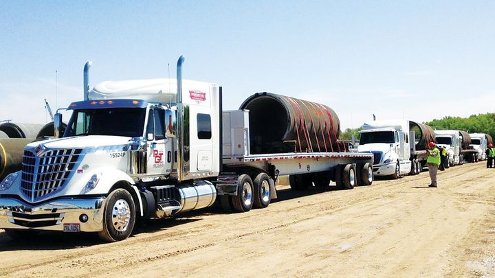 PGT's new operation moves high-volume, heavy, valuable, or multifaceted freight with multiple shipments using flatbeds and specialized equipment. - Photo: PGT Trucking