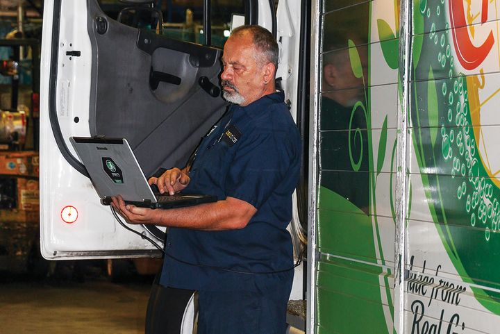 Keeping up with technology is one headache faced by maintenance managers, from training technicians to making sure software is updated and consistent across shops. - Photo: Transervice