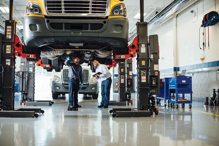 """""""Leasing takes the highs and the lows out of costs for fleets — and does it from the front end to the back end,"""" says Penske's Jim Lager. - Photo: Penske"""