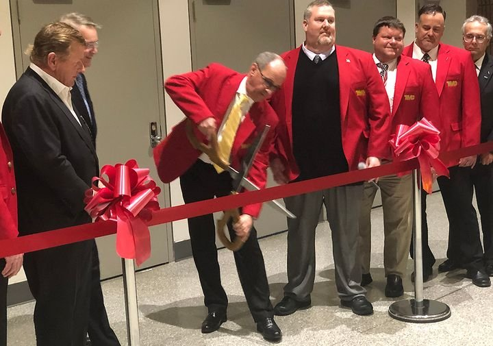 Chairman Kenneth Calhoun cuts the ribbon to open the trade show floor at this year's TMC Annual event. - Photo: Jack Roberts
