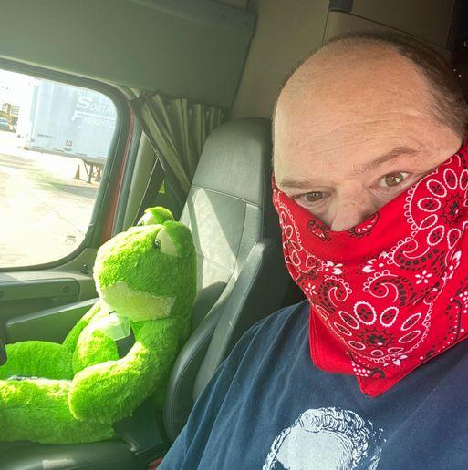 Roadmaster driver Jack McFadden says frogs are immune to coronavirus. - Photo: Jack McFadden/Roadmaster Group