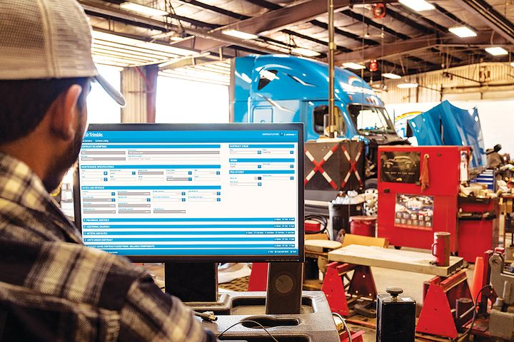 The promise of predictive maintenance systems has been supercharged by the addition of machine learning and artificial intelligence to create a whole new way of keeping trucks up and running. - Photo: Trimble