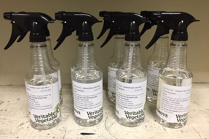 Partnering with one of its growers that makes spirits, Veritable Vegetable came up with a biodynamic alcohol-based disinfectant spray for use in and around the facilities.