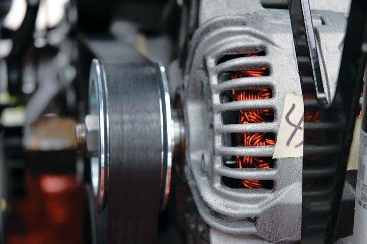 Alternators sometimes seem fine when they are faulty and show puzzling results when they are working fine. Testing is required to determine the alternator's condition before replacing it. - Photo: Jim Park