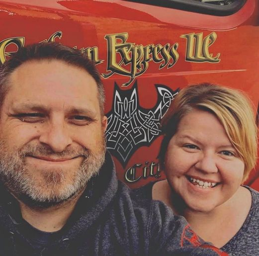 Chanté and Chris Drew call their company Gotham Express LLC. They are lease operators with Barlow Trucklines of Faucett, Missouri.  - Photo: Courtesy Chris and Chante Drew