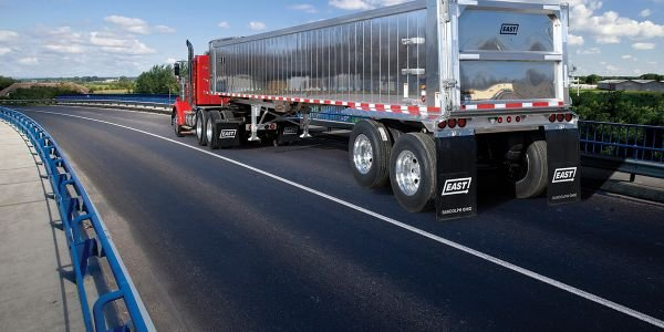 The ¼-inch-thick rear corner posts on East Manufacturing's new Narrow Spec Dump Trailer trailer...