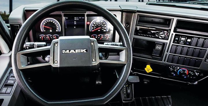 The cab and dash are more than most straight-truck drivers will be used to, and should make the MD a go-to truck for fleets looking to recruit drivers. - Photo: Jim Park