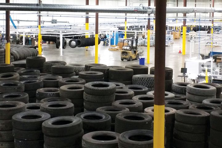"""Any fleet in any market segment with a properly maintained tire program is the ideal candidate for retreads,"" says John D. McCarthy Jr. with McCarthy Tire Service. Shown is a McCarthy Tire Service retread plant in Wilkes-Barre, Pennsylvania. - Photo: McCarthy Tire Service"