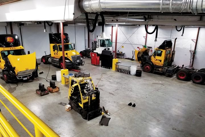 At Estes Express Lines, they took a back-to-the-basics approach of finding cost savings in the maintenance operations. - Photo: Estes Express Lines