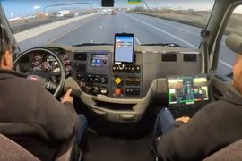 Inside the Cab of an Autonomous Truck