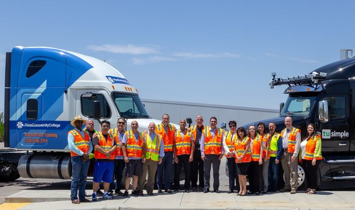 The development team at the Pima Community College Center for Transportation Training, who recently created the autonomous vehicle driver and operations specialist program.