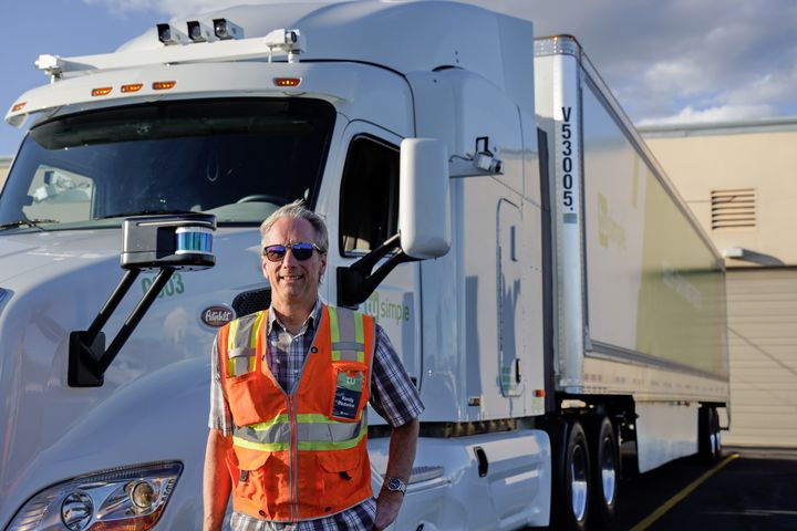 TuSimple safety driver trainer Randy Redwine.