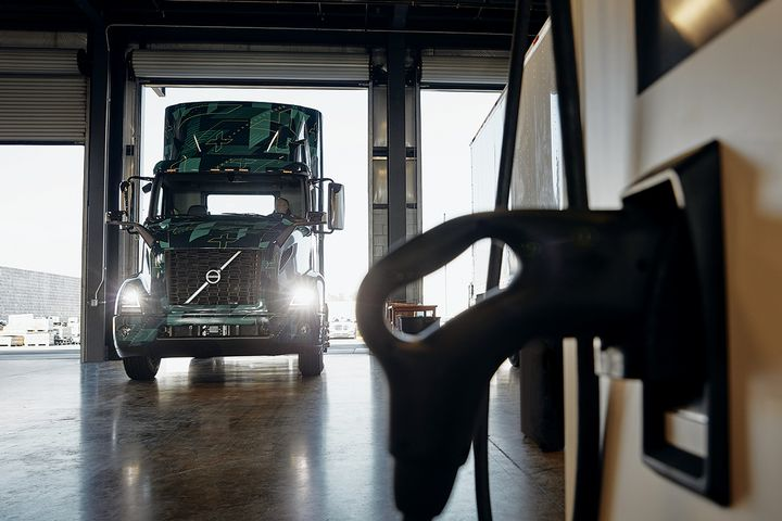Volvo recently collaborated with charging connector provider REMA EV Connections to secure UL certification for its Combined Charging System CCS2 connector. - Photo: Volvo Trucks North America