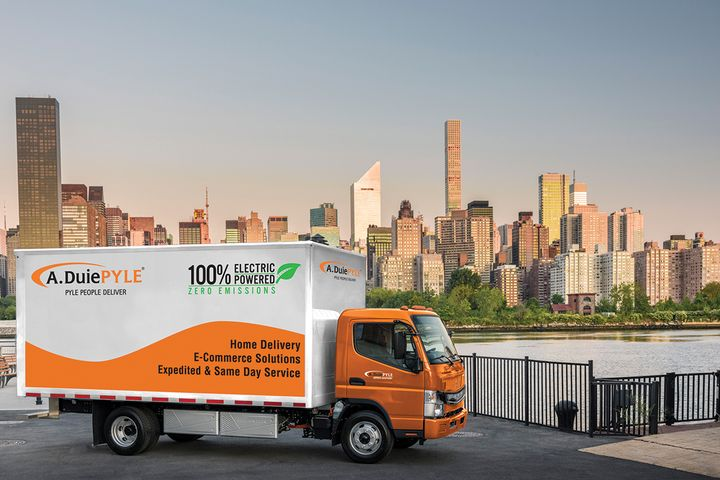 A. Duie Pyle uses electric andhybrid trucks in New York City. - Photo: A. Duie Pyle