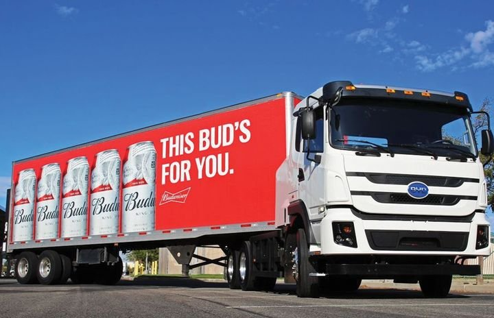 Anheuser Busch is using renewable natural gas and investing heavily in electric trucks. - Photo: Anheuser Busch