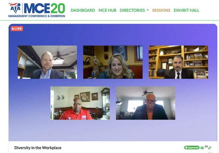 Diversity was the topic of discussion during this virtual panel discussion for ATA MC&E. - Photo: Screen capture