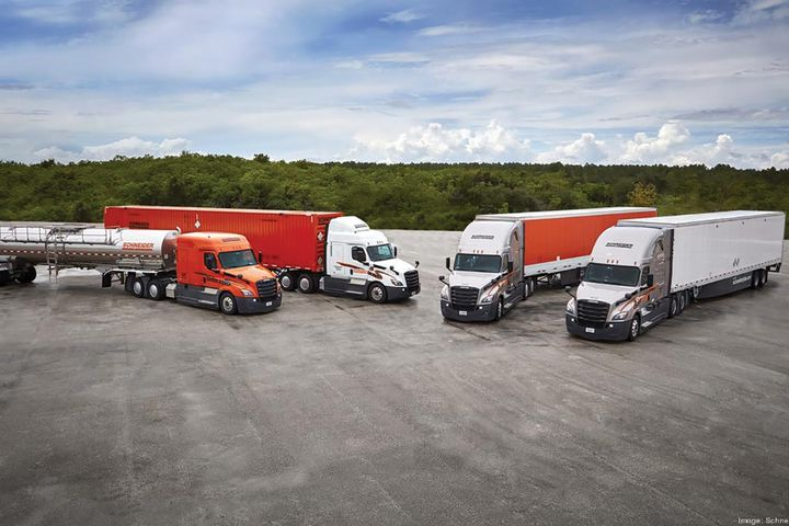 Schneider has more than 500 trucks in testing programs for improved fuel efficiency. - Photo: Schneider