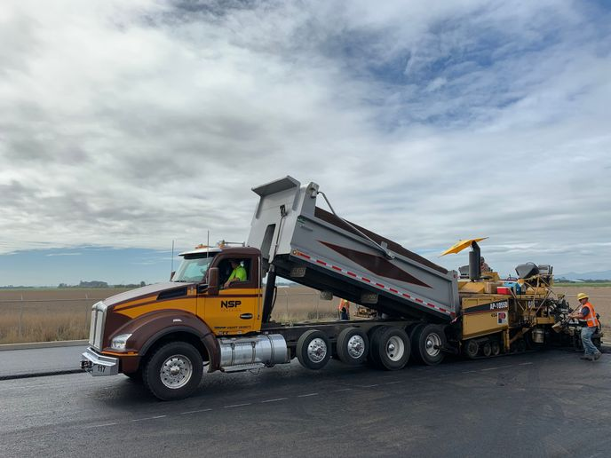 North Santiam Paving in Stayton, Oregon says a switch to AMTs has helped their drivers feel less fatigued, while delivering higher performance and better fuel efficiency. - Photo: NSP