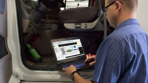 Will trucking go wireless, the way automotive repairs are going, in the way technicians connect...