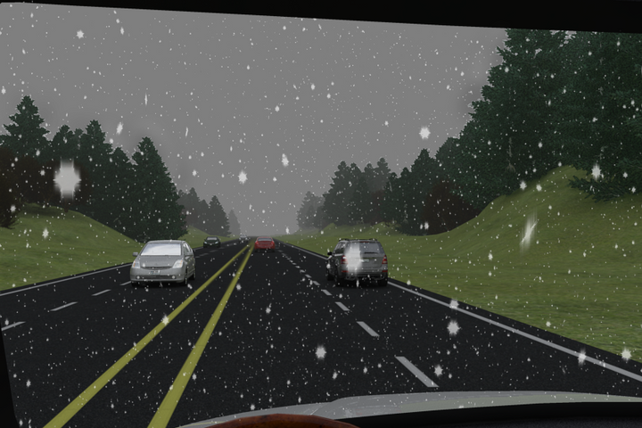 Snow not only can make roads slippery, but also lessen visibility. - Illustration: ITI