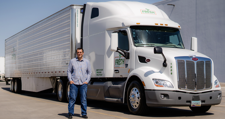 Fresh Freight CEO Matt Heroux, shown, wanted to spec a premium truck for his new fleet to bolster his company's image, ensure operational consistency and attract top-caliber drivers. - Photo: Fresh Freight