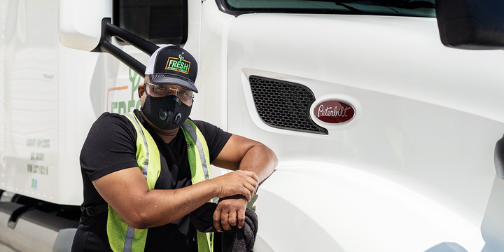In addition to getting new, premium trucks to drive, Fresh Freight drivers are paid a salary that starts at $78,000 a year before benefits. Shown here isFresh Freight driver Antonio Wynn. - Photo: Fresh Freight