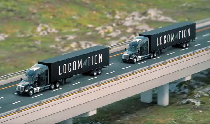 Locomation is taking a slightly different approach to automation: human-guided automation. The company believes it can bring automation to the market sooner if it's less reliant on technology that requires AI and machine learning and a vast array of sensors. A human driver operates the lead truck, while a lighter degree of automation keeps the rear truck in a safe following position.  - Photo: Locomation