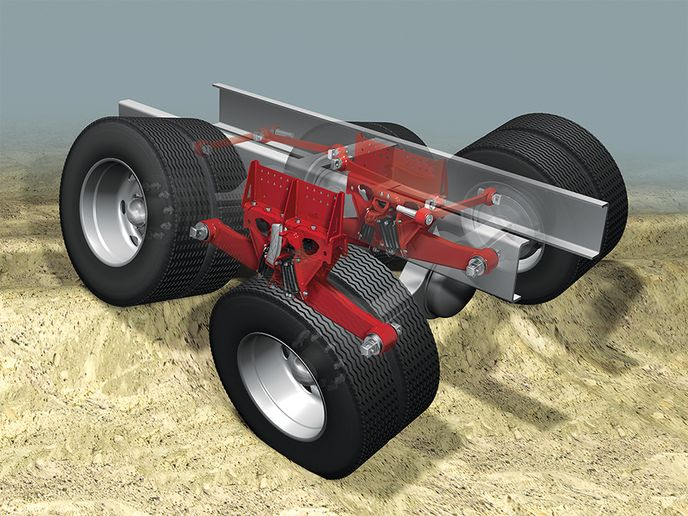 Hendrickson'sHaulmaax EX next-generation heavy-duty rubber suspension for vocational applications. - Photo: Hendrickson