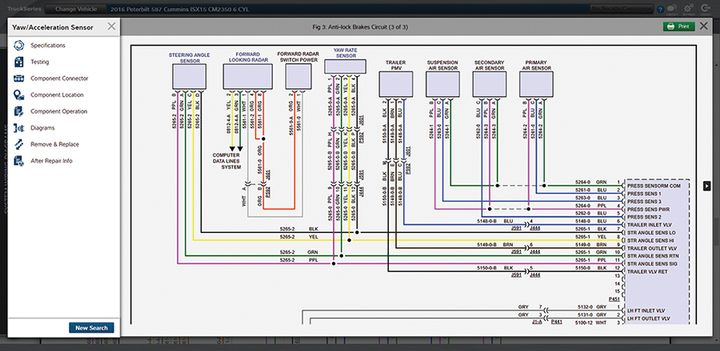 Mitchell 1'sTruckSeries truck-repair software has a new interactive wiring diagrams feature. - Photo: Mitchell 1