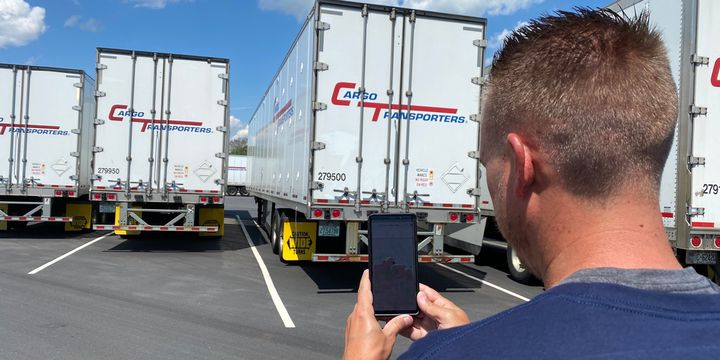 Cargo Transporters rolled out a feature that allows drivers to locate their trucks via their driveCT mobile app. - Photo: Cargo Transporters