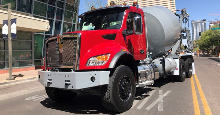 Kenworth's new medium-duty truck line features models ranging from Class 5 to 'light' 8 with new safety features and an automotive feel behind the steering wheel. - Photo: Jack Roberts