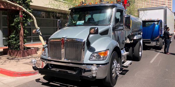"Kenworth's new medium-duty lineup of vocational trucks features a ""car like"" driving experience,..."