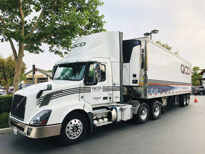 """QCD uses both Class 8 and Class 6 trucks in its delivery operations. When it comes to non-CDLdrivers for Class 6 trucks, QCD goes """"the extra step to hire the best and treat them the same as Class A drivers"""" to keep up the fleet's high safety standards, says Stephen Wetterau. - Photo: Quality Custom Distribution"""