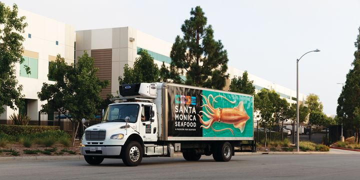 """Training on backing up gets special attention at Santa Monica Seafood, where the acronym GOAL, for """"Get Out And Look"""" appears on stickers in every truck to help keep drivers aware of potential hazards. - Photo: Santa Monica Seafood"""