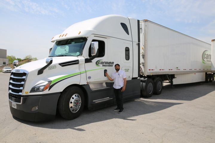 Amarjit Saini, recruiter and driver trainerat Carmen Transportation, says some of his top fuel-saving tips for drivers are no engine idling, monitoring tire pressure, and being a patient driver rather than aggressive. - Photo: Carmen Transportation