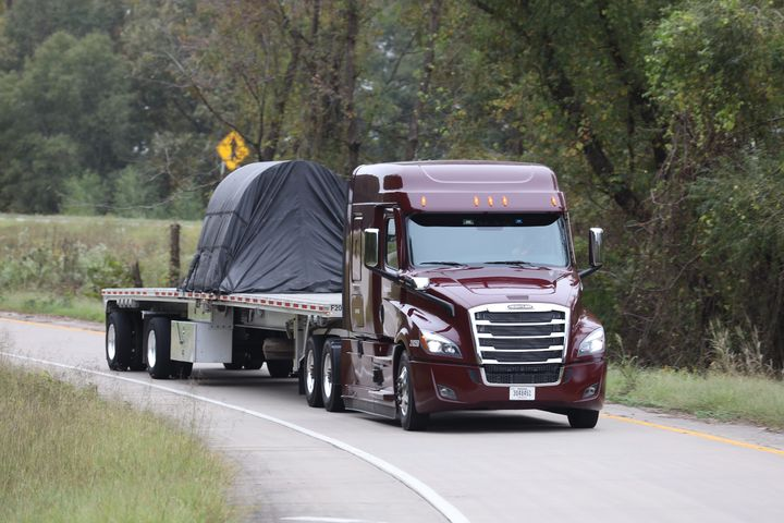 Fuel-saving specs need to be tailored to the type of trailer, such as Maverick Transportation's flatbed operations. - Photo: Maverick Transportation