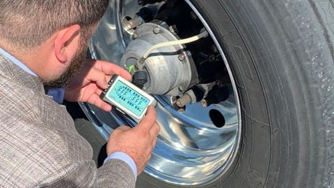 Using telematics to get tire pressure data back to the fleet manager allows fleets to make...